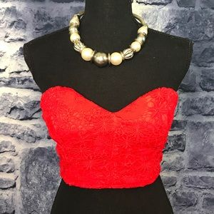 Forever 21 Sexy Red Crop Top